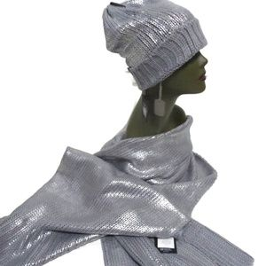 William Rast Justin Timberlake Scarf Hat Silver
